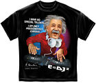 Licensed EINSTEIN DJ=MC2 Quote Black T-Shirt M-3XL NEW