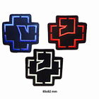 #956 RAMMSTEIN White blue  and Red Embroidered Iron On Sew On Patch Heavy Rock