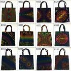 "Tie Dye Tote Bag 13.5""x13.5"" Shopping Cotton Multi-Color Thai Handcraft Unisex"