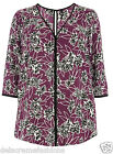 New Ex Evans Women's Printed Woven Top Ladies Plus Size Floral Blouse *RRP £30*