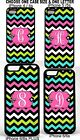 Monogram Chevron Phone Case Cover FOR iPHONE 4 4s 5 5S 6 6S PLUS BLUE PINK