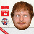 Ed Sheeran Singer Songwriter Celebrity Card Face Mask - Made In The UK New
