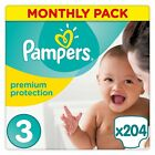 Pampers PREMIUM Protection Nappies MONTHLY SAVING Pack SIZE 0 1 2 3 4 4+5