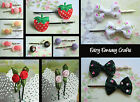 2 X (1 PAIR) OF NOVELTY HEAD HAIR GRIPS STRAWBERRY ROSES CHOCOLATE CANDY BONBONS