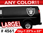 """OAKLAND RAIDERS LARGE DECAL STICKER 23""""h x 22""""w  Any 1 Color $22.99 USD on eBay"""