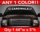 "ARIZONA CARDINALS w/Logos WINDSHIELD DECAL STICKER 44""w x 5""h ANY 1 COLOR $12.99 USD on eBay"