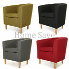 NEW FABRIC CLASSIC TUB CHAIR ARM CHAIR HOME OR BUSINESS USE CRIB 5 CERTIFIED