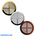 2 x Circle Air Vent Grille 45mm Furniture Ventilation Cover Gold  Brown Chrome