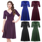 Vintage Retro 1950s 60s Style Stretch Swing COCKTAIL Evening Party Pinup Dress
