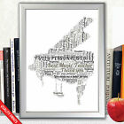 MUSIC TEACHER PIANO WORD ART GIFT PRESENT THANK YOU GIFT PRESENT POSTER PRINT