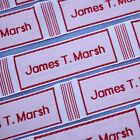 160 Personalised Large Woven Name Labels Tapes Back To School
