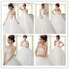 4 Style Optional Vintage White Strapless Ball Gown Bridal Chapel Wedding Dress