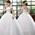 White Sweet Off the Shoulder Chapel Wedding dresses Bridal gown Ball Gown
