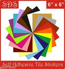 "Tile stickers 6"" self adhesive transfers packs 5,10,20,30,40,50 not water slideT"