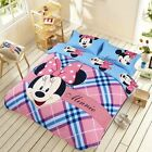 ** Lovely Check Minnie Mouse Queen Bed Quilt Cover Set - Flat or Fitted Sheet **
