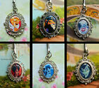DISNEY VILLAINS CHARM KEYRING MALEFICENT GASTON QUEEN SCAR CRUELLA GOTHEL URSULA
