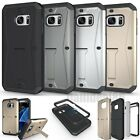 3 in 1 Shockproof Rugged Hybrid Rubber Phone Stand Case Cover For Samsung&iPhone
