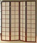 room partition panels - 3 & 4 Panel Fabric In Lay Espresso Room Screen Divider