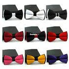 New Fashion Mens Adjustable Polyester Wedding Prom Party Bow Tie ES8P
