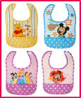 2X Girls Boys Kids Disney Waterproof Baby Feeding Toddler Infant Bib Bibs Muslin