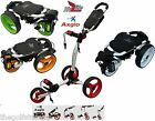 Axglo Trilite 3 Wheel Golf Trolley Pull Push10 Colours New 2016 Model Free Gifts