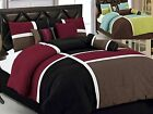 black full size comforter - Aaliyah 7-Piece Quilted Patchwork Comforter Set Over Sized King Queen Full