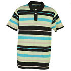 Red Jacket Collar Polo Multi Color Striped Lines Button Dress Shirt Mens Brown