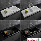 Reginox Single & 1.5 Bowl White, Black Reversible Ceramic Kitchen Sink & Tap