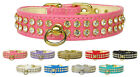 CRYSTAL DIAMONTE SUPER STUNNING  2 ROW DOG / PUPPY COLLARS MADE IN THE USA