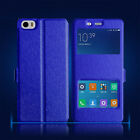 Silk Skin Window Wallet Flip PU Leather Cover Case for Xiaomi M5 RedMi Note3