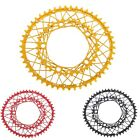 KCNC K6 K6 COBWEB OVAL Chainrings 50/34T BCD110mm 53/39T BCD130mm Red Gold Black