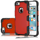 For iPhone SE 5s 5 Hybrid Shockproof Rugged Rubber Defender Matte Case Cover