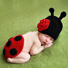 Baby Girls Boys Coccinella Septempunc Crochet Costume Photography Prop Scarb