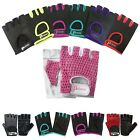 Half Finger Ladies Cycle Gloves weight lifting Training Gloves Fingerless 412