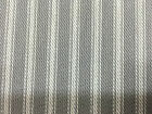 St Ives Ticking Woven Stripe Curtain/Craft Fabric Pebble grey