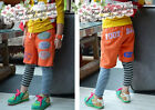 1448 Boutique Fake 2Ps Sporty Cotton Pants Hip Hop Style Mixed Color Unisex NWT