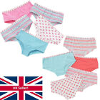 Girls Just Essentials 5 Pack Hearts Print Hipster Cotton Briefs Pants Shorts