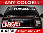 "SEATTLE SEAHAWKS WINDSHIELD DECAL STICKER 44""x4"" ANY 1 COLOR $12.99 USD on eBay"
