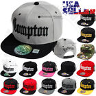 COMPTON Baseball Cap Snapback 3D Embroidery Adjustable Hat Flat Bill Hip Hop EZ