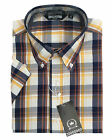 MENS RELCO CLASSIC SHORT SLEEVE CHECK TARTAN SHIRT MOD SKA RETRO - NAVY BLUE
