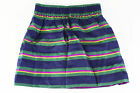 New Ralph Lauren Size Striped Baby Girl's Skirt Blue Silk - NWT