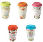 Bamboo Thermal Travel Coffee Mug 8 Different Designs FREE DELIVERY