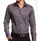 TR Premium Mens Slim Fit Button Down Floral Printed Fashion Shirt TR-686 Multi