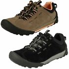 Ladies Clarks Outlay West Taupe Suede Leather Lace Up Casual Trainer Shoes
