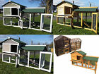 RABBIT HUTCH GUINEA PIG HUTCHES RUN LARGE 2 TIER DOUBLE DECKER CAGE 5FT OR 6FT