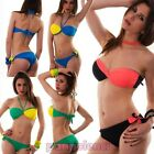 Bikini woman swimsuit band crossed DOUBLE FACE two pieces new B2350