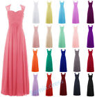 New Formal Chiffon Lace Ball Gown Evening Party Bridesmaid Prom Dress Long Maxi