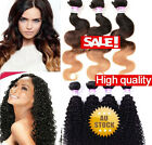 1-3Bdls/300G 100% Human Hair Extensions Weave Brazilian Body OMBRE/Kinky Curly