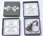 PERSONALISED PAGE BOY GIFT DALEK KEY RING BEARER USHER BEST MAN THANKS MULTI