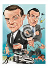 JAMES BOND art print caricature A3/A4 sizes signed artwork 007 £8.99 GBP on eBay